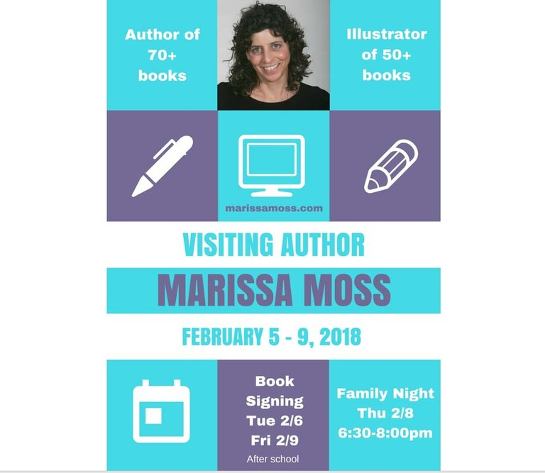 PTA Visiting Author Marissa Moss